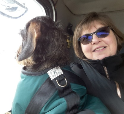 Pippa and me enjoying the ride.